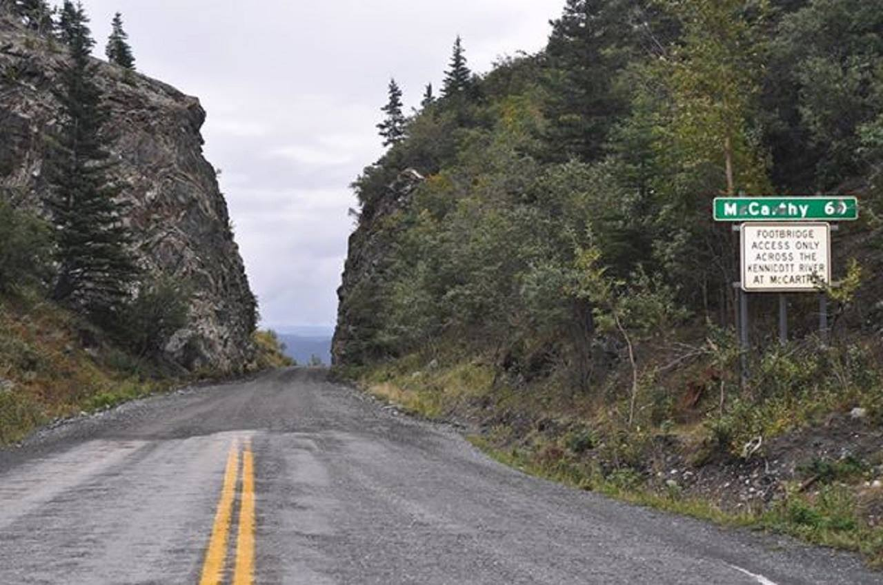 End of the paved road in Chitina
